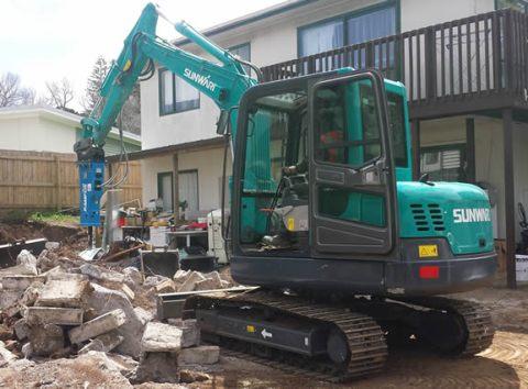 sunward mini excavator